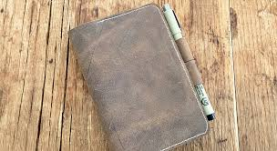 how to make a leather notebook cover