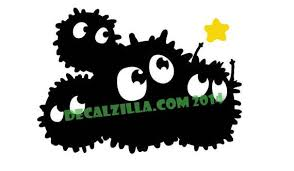 Soot Sprites Decal Sticker Totoro Spirited Away For Cars Etsy