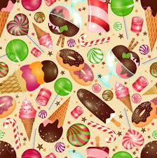 Candy Y Dulces De Fondo Sin Fisuras Para Las Invitaciones A La Navidad Y Cumpleanos Ilustraciones Vectoriales Clip Art Vectorizado Libre De Derechos Image 47155154