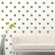 84 Of 4 Gold Star Diy Decor Removable Peel Stick Wall Vinyl Decal Sticker Ebay