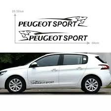 2 X Vinyl Car Decal Sticker Adhesive 106 206 300mm Long For Peugeot Sport Archives Midweek Com
