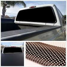 Waterproof Black Rear Window Perforated Decal Tint Graphic Sticker For Truck Van Ebay