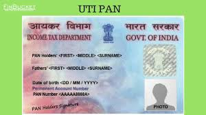 uti pan services application for new
