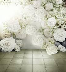 New Arrival Fantasy White Big 6 5 10ft Flower Wedding Photo