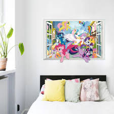 3d Cartoon My Little Pony Gift Window Wall Stickers Decal Poster Kid Etzetra