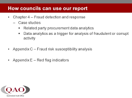 Performance Audit Fraud Management In Local Government Report 19 David Toma Manager 24 July Ppt Download