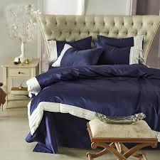 washed silk summer bedding set dark