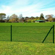 Shop Vidaxl Chain Link Fence With Posts Spike Galvanised Steel 2 6ftx49 2ft Overstock 31427892