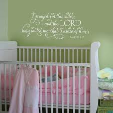 I Prayed For This Child Scripture Vinyl Wall Decal Vinyl Lettering Vinyl Sticker Calligraphy Baby Quote Baby Girl Room Scriptures Wall Nursery