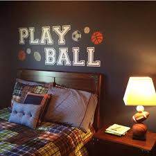 Play Ball Wall Sticker Decals Art Cutout Letters For Kids Or Teens Cool Room Decor