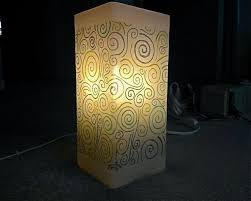 white frosted glass lamp from ikea