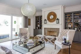 white fireplace mantle with gray built