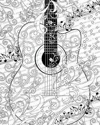 Kleurplaat Poster Afdrukbare Muziek Kleuren Poster Instant Etsy