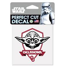 Ncaa Star Wars Yoda Die Cut Car Decal Wincraft Walmart Com Walmart Com