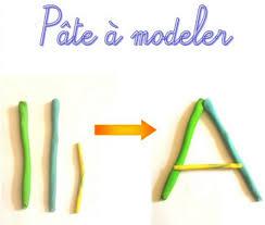 """Résultat de recherche d'images pour """"lettre en pâte à modeler"""""""