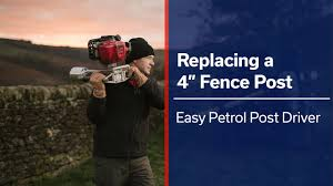 4 Fence Post Replacement Easy Petrol Post Driver Youtube