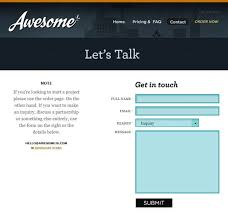 html contact forms in web design