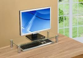 computer monitor stand desktop riser