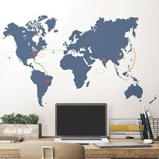 Large World Map Wall Decal Wayfair