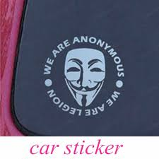 Vinyl Decal Car Window Truck Bumper Auto Suv Anonymous Mask Sexy Man Weird Vendetta Smiley Car Sticker Car Sticker Vinyl Decaldecals Car Aliexpress