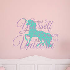Unicorn Wall Decal Always Be Yourself Buy Online In China At Desertcart