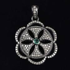 natural 1 1 ct emerald pave diamond