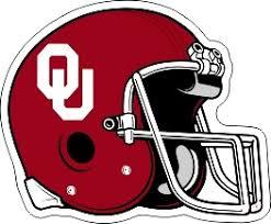 Oklahoma Sooners Die Cut Ou Crimson Football Helmet Vinyl Decal