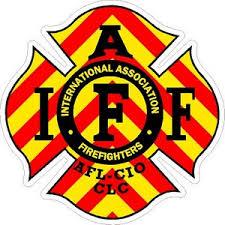 Chevron Iaff International Association Firefighters Vinyl Sticker At Sticker Shoppe