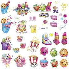 Shopkins 39 Piece Wall Decals New Peel N Stick Wall Decals