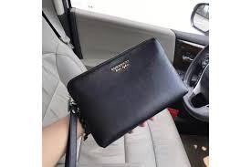 mens black leather clutch bag 2816