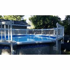 Patio Lawn Garden Pool Handrails 36 Inch Fence Kit A 8 Sections Vinyl Works Resin Above Ground Pool Fence Kit Meubeldeal Nl