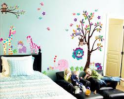 Jungle Zoo Animal Friends Kids Wall Decals Nursery Vinyl Sticker
