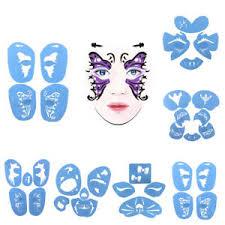 plastic reusable face painting stencils