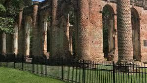 Topless Photos Stolen Bricks Mean New Fence At Old Sheldon Church Ruins Wciv