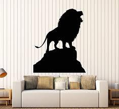 Amazon Com Vinyl Wall Decal African Lion King Animal Silhouette Predator Stickers Large Decor 1536ig Handmade