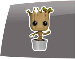 Amazon Com Window Swag Baby Groot Flower Pot Color Decal Guardians Of The Galaxy Inspired Vinyl Sticker Automotive