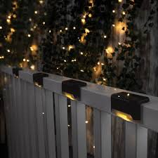 Reviews For Solar Powered Outdoor Warm White Integrated Led Deck Stair Pathway Fence Lights Ip44 Weatherproof 4 Pack Mi Las03 101 The Home Depot