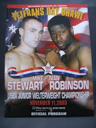 2003 MIKE STEWART vs IVAN ROBINSON On-Site Boxing Program ...