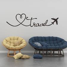 Removable Wall Stickers Travel Themed Quote Words Pvc Wall Decal Diy Self Adhesive Home Decor Stickers Wall Stickers Aliexpress