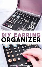 diy earring organizer earrings ideas