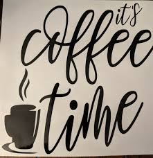 It S Coffee Time Black Kitchen Cafe Wall Decal Sticker Vinyl Art For Sale Online