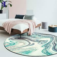 Sunnyrain 1 Piece Printed Seawater Round Rug For Bedroom Kids Room Rugs Area Round Rugs For Living Room Rug Aliexpress