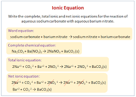 writing ionic equations solutions