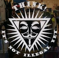 Anonymous Think It S Not Illegal Yet Die Cut Window Wall Car Vinyl S My Anon Store