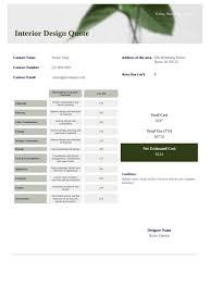 interior design quote template pdf templates jotform
