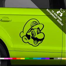 Mario Bros Car Decal Super Mario Window Or Bumper Sticker Etsy