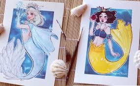 Nàng tiên cá: Các nàng công chúa Disney hóa thân thành nàng tiên cá, ai mới  là người xinh đẹp nhất?
