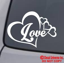 Family Love Heart Infinity Forever Symbol Vinyl Decal Car Window Bumper Sticker Auto Parts And Vehicles Car Truck Graphics Decals Magenta Cl