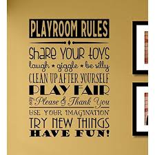 Playroom Rules Share Your Toys Laugh Giggle Be Silly Clean Up After Yourself Vinyl Wall Art Decal Sticker Walmart Com Walmart Com