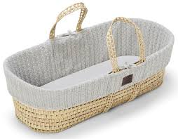 natural knitted moses basket